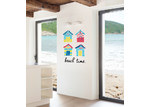 Little Sticker Boy Brighton Beach Huts Wall Decal