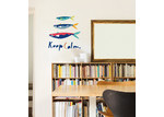 Little Sticker Boy Keep Calm With The Sardines Wall Decal