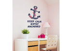 Little Sticker Boy Keep Calm & Stay Anchored Wall Decal