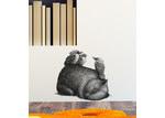 Little Sticker Boy Wombat & 3 Kookas By Renee Treml Wall Decal