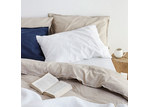 Canningvale Sogno Cappuccino Taupe Linen & Cotton Quilt Cover Set