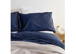 Canningvale Sogno Indigo Blue Linen & Cotton Quilt Cover Set