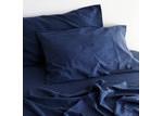 Canningvale Sogno Indigo Blue Linen & Cotton Sheet Set