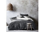 Aura By Tracie Ellis Charcoal Sine Quilt Cover Set