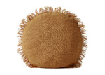 Aura By Tracie Ellis Fringed Vintage Style Linen Round Cushion