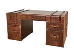 Huntington Lane Vintager Leather Cognac Grand Desk
