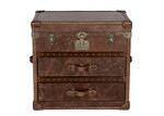 Huntington Lane Vintage Leather Chest 2 Drawer & Top Opening