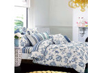 Dreamaker Lilac Dreamaker Printed Egyptian Cotton Quilt Cover Set