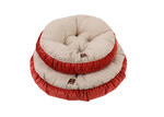 Charlies Pet Product Charlie's Cream & Orange Pet Round Bed Cushion