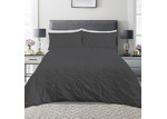 Dreamaker Charcoal Diamond Microfibre Quilt Cover Set