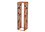The Home Collective Brown Leafy Metal Log Holder