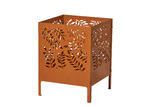 The Home Collective Brown Leafy Metal Fire Pit