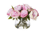 The Home Collective 28cm Faux Peonies with Classic Bowl Vases (Set of 2)