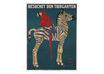 Arthouse Collective Vintage Munich Zoo Zebra Canvas Wall Art