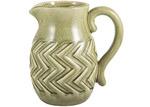 Florabelle Olive Green Aztec Ceramic Decorative Jug