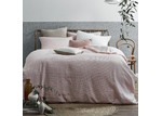 Home by Temple & Webster Blush Jumbo Waffle Linen Cotton Quilt Cover Set