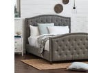 VIC Furniture Light Grey Luxury Aurora Queen Bed Frame