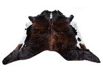 All Natural Hides and Sheepskins Chocolate & White Brindle Natural Cowhide Rug