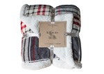 Bella Casa Chequered Sherpa Throw