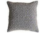 Bella Casa Slate Grey Cambo Pom Pom Cushion