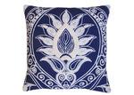 Zaab Homewares Navy Ankara Linen Cushion
