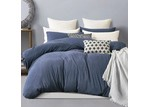 Gioia Casa Blue Marble Jersey Cotton Quilt Cover Set