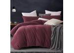 Gioia Casa Burgundy Jersey Cotton Quilt Cover Set