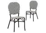 Temple & Webster Black Paris PE Rattan Cafe Chairs (Set of 2)