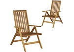 Temple & Webster Palma Majorca Outdoor Timber Folding Chairs (Set of 2)