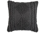 Temple & Webster Charcoal Lela Cotton Cushion