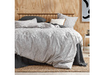 Temple & Webster Silver Jett Cotton Quilt Cover Set