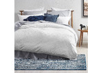 Temple & Webster White Jett Cotton Quilt Cover Set