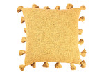 Temple & Webster Mustard Square Cotton Cushion