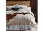 Temple & Webster Natural Vintage-Wash Cotton Quilt Cover Set