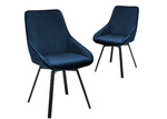 Temple & Webster Nappa Velvet Swivel Dining Chairs (Set of 2)