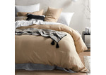 Temple & Webster Almond French Linen Quilt Cover Set
