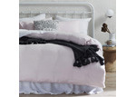 Temple & Webster Blush French Linen Quilt Cover Set