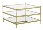 Temple & Webster Square Francesca Glass Coffee Table