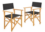 Temple & Webster Belize Wooden Outdoor Director's Chairs (Set of 2)