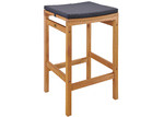 Temple & Webster 65cm Verona Wooden Outdoor Barstool