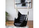 Collective Sol Black & White Noosa Cotton Hammock Chair Swing