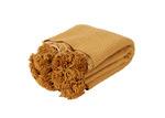 Collective Sol Gold Harper Pom Pom Cotton Throw Blanket
