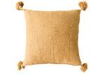 Collective Sol Gold Harper Pom Pom Cotton Cushion Cover