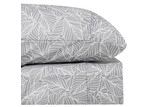 Odyssey Living Silver Aster Thermal Microfibre Queen Flannelette Sheet Set