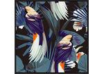 Sunday Homewares Oriental Birds Black Framed Canvas Wall Art