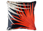 Sunday Homewares Red Tropical Hui Square Cotton Cushion