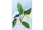 Sunday Homewares Plant Love Green Leaves Framed Canvas Wall Art
