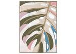 Sunday Homewares Pastel Summer Palm Framed Canvas Wall Art