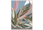 Sunday Homewares Pastel Fallen Leaves Framed Canvas Wall Art
