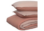 In the Sac Nude & Clay Reversible Linen Quilt Cover Set